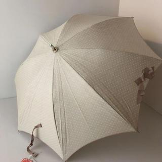 ランバンオンブルー(LANVIN en Bleu)の新品⭐️ ランバン オンブルー 晴雨兼用 パラソル ブライトクール生地 ベージュ(傘)