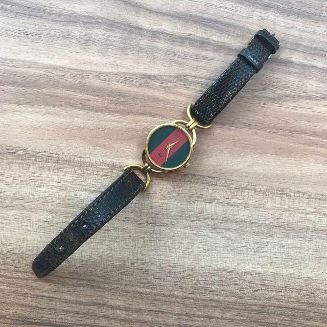 Gucci - グッチ 腕時計 6000L 金×茶×赤×緑(92015745)の通販 by sakura-vintage's shop|グッチならラクマ