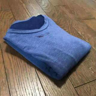 ユニクロ(UNIQLO)のUNIQLO ヒートテック 長袖シャツ ブルー(Tシャツ/カットソー(七分/長袖))