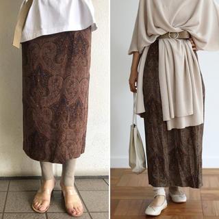 トゥデイフル(TODAYFUL)の□TODAYFUL□ 2019SS  Paisley Wrap Skirt 美品(ロングスカート)