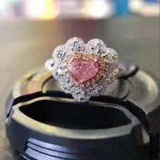GIA♡ハートシェイプL.Pinkダイヤモンドリング(リング(指輪))