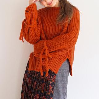 ハコ(haco!)の袖リボン ざっくりニット(ニット/セーター)
