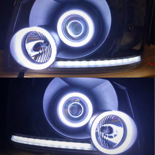 トヨタ - ★新品★ 200系 ハイエース 1.2型 ★最新★COBイカリングヘッドライト