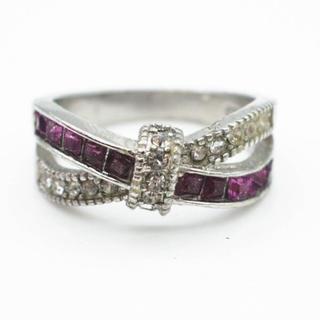 ダイヤモンドリング指輪 ☆刻印あり☆プラチナ仕上☆(リング(指輪))