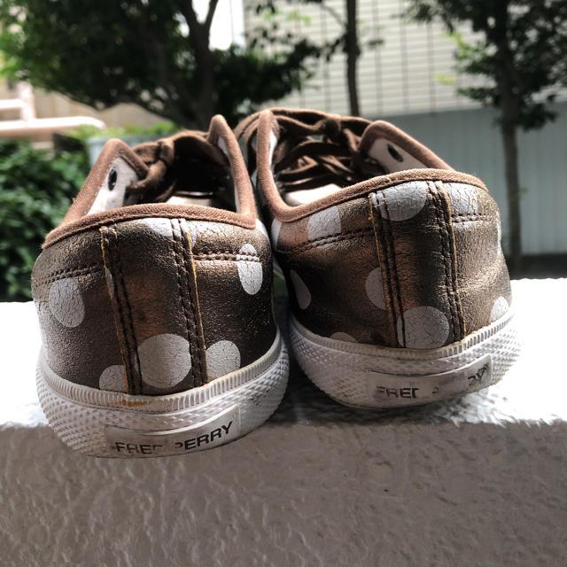FRED PERRY(フレッドペリー)のフレッドペリー水玉 レザースニーカー ゴールドベージュ レディースの靴/シューズ(スニーカー)の商品写真