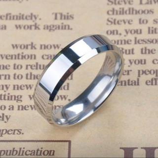 チタンアクセサリー メンズ 指輪  鏡面 フラット 平打ちリング シルバー(リング(指輪))