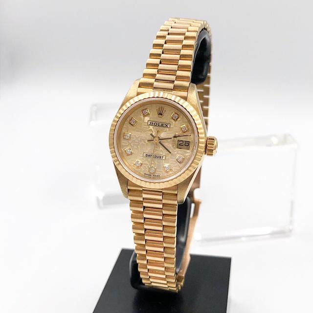 ROLEX - 【仕上済】ロレックス 10P 新ダイヤ 金無垢 コンピュータ レディース 腕時計の通販 by LMC|ロレックスならラクマ