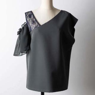 ラベルエチュード(la belle Etude)の異素材デザインカットソー(カットソー(半袖/袖なし))