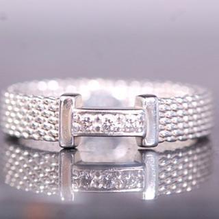 ティファニー(Tiffany & Co.)のTIFFANY&Co. ティファニー リング サマセット 3P ダイヤ シルバー(リング(指輪))