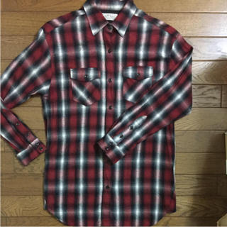 ローズバッド(ROSE BUD)の値下げ☆ローズバッド  ネルシャツ チェックシャツ 赤×黒(シャツ/ブラウス(長袖/七分))