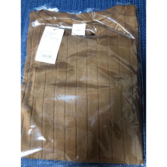 DOORS / URBAN RESEARCH(ドアーズ)の新品 アーバンリサーチ ドアーズ 針抜き 長袖 カットソー キャメル DOORS レディースのトップス(Tシャツ(長袖/七分))の商品写真