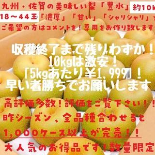 最終セール!数量限定【高評価多数】たっぷり!!豊水梨約10kg(18玉~44玉)(フルーツ)