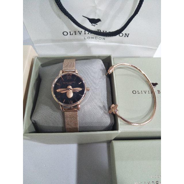 新品 OLIVIA BURTON オリビアバートン 腕時計とバングル二点セットの通販 by ハルタ's shop|ラクマ