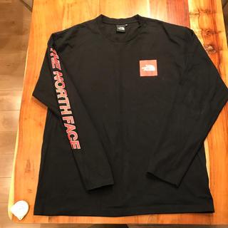 ザノースフェイス(THE NORTH FACE)のノースフェイス ロンT 黒✖️赤(Tシャツ/カットソー(七分/長袖))