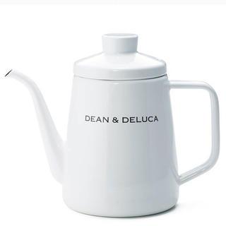 ディーンアンドデルーカ(DEAN & DELUCA)の未使用 未開封 DEAN & DELUCA ホーローケトル ホワイト 1L  (調理道具/製菓道具)