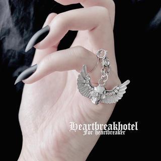 monomania - ♥️ Vintage Silver Skull Angel Ring