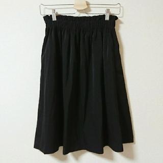 ミスティック(mystic)のmystic シンプル☆ブラックひざ丈スカート(ひざ丈スカート)