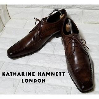 KATHARINE HAMNETT - ✿KATHALINE HAMNETT✿【Uチップ】27.0cm 濃茶