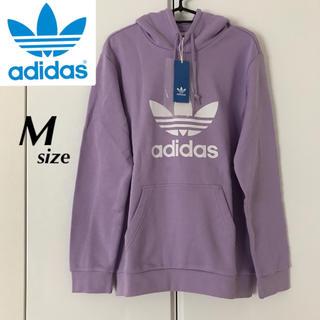 adidas - 【定価9709円】adidas トレフォイル パーカー 紫 メンズ Mサイズ