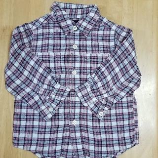 ベビーギャップ(babyGAP)のbabyGap チェックシャツ 90cm(ブラウス)