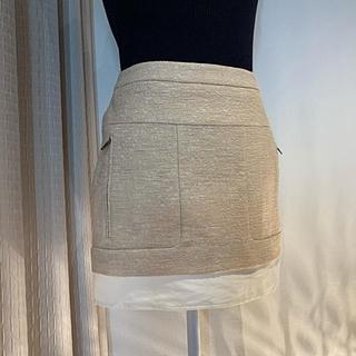 ビーシービージーマックスアズリア(BCBGMAXAZRIA)のbcbgmaxazria スカート ピンクベージュ(ミニスカート)