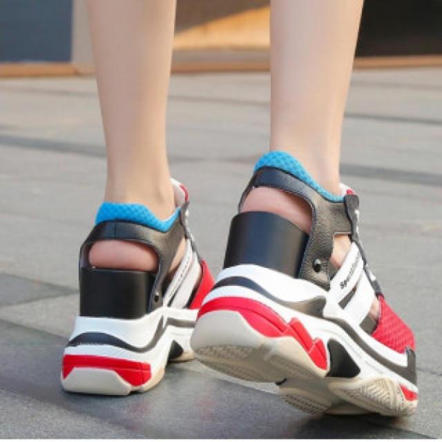 レディース 厚底スニーカーサンダル スニーカー スポサン 新品 レディースの靴/シューズ(サンダル)の商品写真