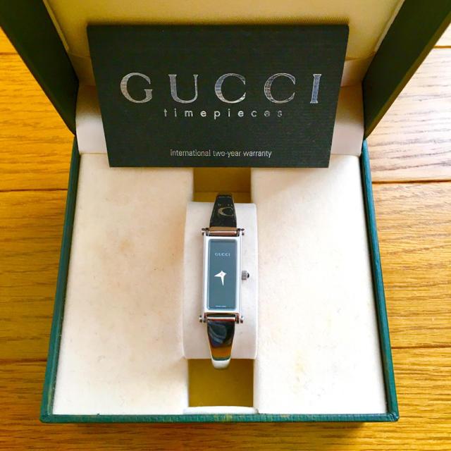 Gucci - 【大特価!!】LADIES GUCCI バングル腕時計 1500L ブラック🎀の通販 by リラックス's shop|グッチならラクマ