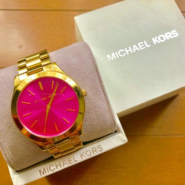 Michael Kors - 【大特価!!】LADIES MICHAEL KORS腕時計 ピンク×ゴールド🎀の通販 by リラックス's shop|マイケルコースならラクマ