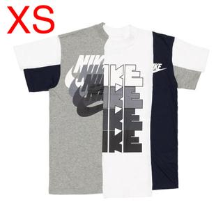 ナイキ(NIKE)のXSサイズ NIKE × sacai サカイ ハイブリッド tシャツ ナイキ(Tシャツ/カットソー(半袖/袖なし))