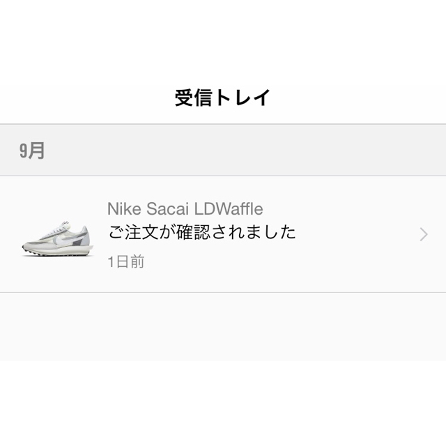 sacai(サカイ)のsacai nike ホワイト レディースの靴/シューズ(スニーカー)の商品写真