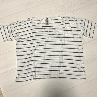 スライ(SLY)のスライ♡ボーダー切り替えTシャツ 着画あり(Tシャツ(半袖/袖なし))