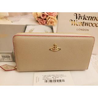 ヴィヴィアンウエストウッド(Vivienne Westwood)のヴィヴィアンウエストウッド 長財布  ベージュ×赤  新品未使用品(財布)