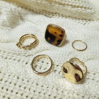 アリシアスタン(ALEXIA STAM)のゴールド リング 指輪 セット レオパ 重ね付け(リング(指輪))
