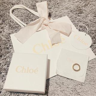 クロエ(Chloe)の【9月16日まで限定価格】chloe チェーンリング 箱・袋付き(リング(指輪))