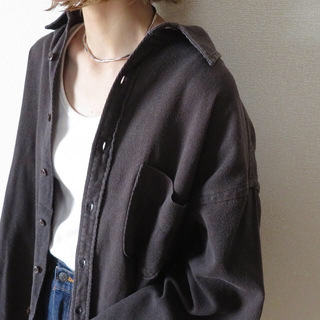 J.Crew - 90s J.CREW ビッグシャツ ジャケット 黒 古着 vintage