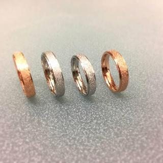 サイズ充実★キラキララメチタンステンレスリング指輪 幅4mm版(リング(指輪))