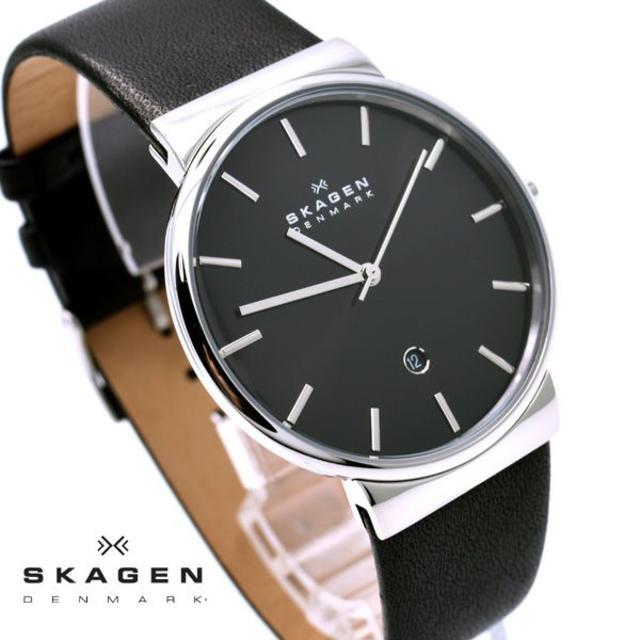 SKAGEN - スカーゲン 腕時計 メンズ SKAGEN ブラック 黒 レザー 人気 ブランドの通販 by おもち's shop|スカーゲンならラクマ