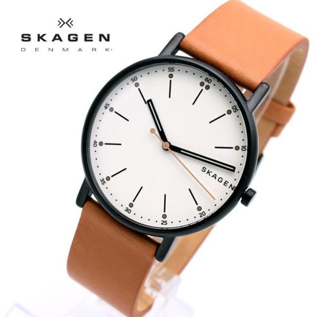 SKAGEN - スカーゲン 腕時計 メンズ SKAGEN 時計 シグネチャー ライトブラウンの通販 by おもち's shop|スカーゲンならラクマ