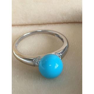 K18 トルコ石 ダイヤ0.04ct リング/ 指輪(リング(指輪))