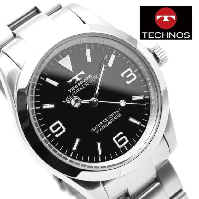 TECHNOS - TECHNOS テクノス 腕時計 メンズ ブラック シルバー ビジネスの通販 by おもち's shop|テクノスならラクマ
