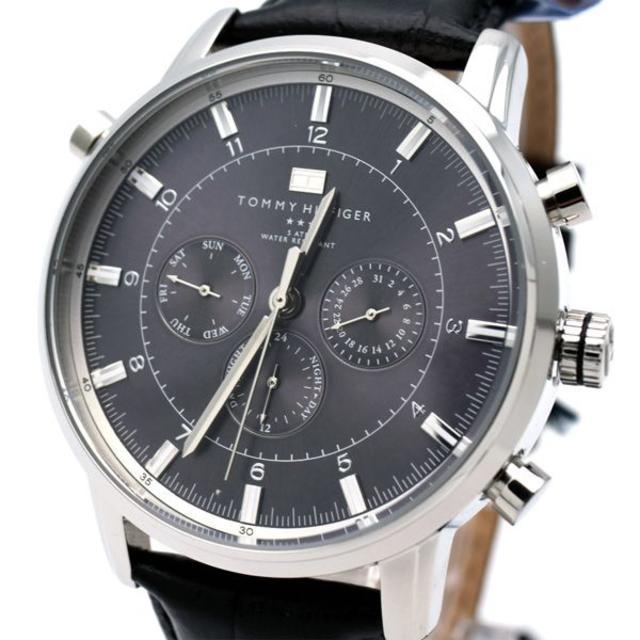 TOMMY HILFIGER - トミー ヒルフィガー 腕時計 メンズ ブランド ブラック 黒の通販 by おもち's shop|トミーヒルフィガーならラクマ