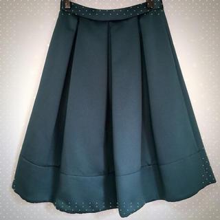ミーアンドミークチュール(me & me couture)のベビーサテンタックスカート(ロングスカート)