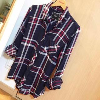 ローズバッド(ROSE BUD)の定価18360円 新品同様 ROREBUDセレクトRailsチェックシャツ(シャツ/ブラウス(長袖/七分))