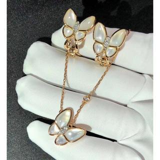 ダイヤモンド ネックレス イヤリング式ピアス リング k18 新品(リング(指輪))