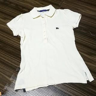 バーバリーブルーレーベル(BURBERRY BLUE LABEL)のBURBERRYバーバリーブルーレーベル ポロシャツ オフホワイト(ポロシャツ)
