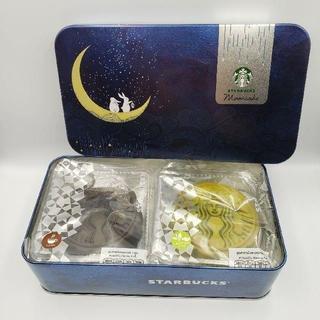 スターバックスコーヒー(Starbucks Coffee)の日本未発売★海外スタバ タイ限定★ムーンケーキ(月餅)モカ&抹茶小豆(菓子/デザート)