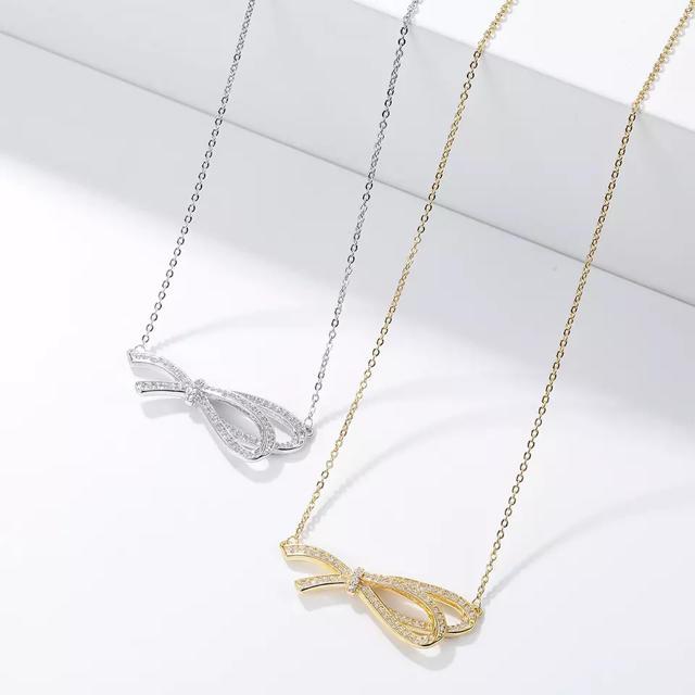 Chesty(チェスティ)のリボン ネックレス silver No.907 レディースのアクセサリー(ネックレス)の商品写真