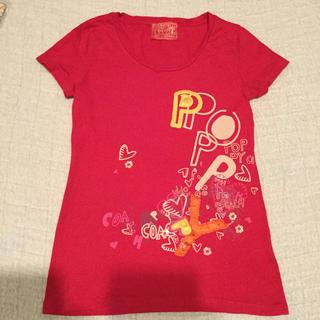 コーチ(COACH)のCOACH コーチ Tシャツ ピンク L(Tシャツ(半袖/袖なし))