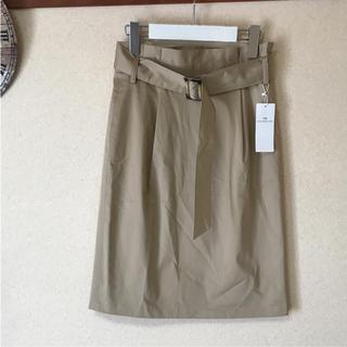 ミューズ(Mew's)の●新品 mew's refined clothes ベルト付き スカート  (ひざ丈スカート)