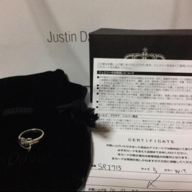 Justin Davis(ジャスティンデイビス)の今月のみ販売❗️JustinDavis★LUV&HATEリング★ホワイトトパーズ レディースのアクセサリー(リング(指輪))の商品写真